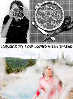 Make A Cool Camera Filter Using An Embroidery Hoop And Thread