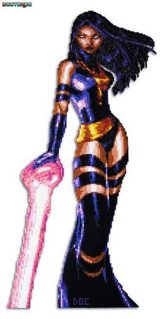 Psylocke Bead Sprite, via Flickr.