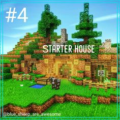 Mcpe let's play Episode 4. Starter house So today I began my starter house. Although it's quite elaborate for a begining house. I did a little bit of landscaping around it to make it seem a bit more fancy. Sorry for the random chests in front it's hard to build without supplies. It kinda reminds me of a Hobbit hole from the LOTR universe. Next episode I'm going to the Nether. If you are enjoying this series hit the like button and comment done I will be posting twice a week at least. M