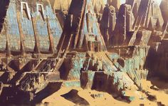 ArtStation - Desert Ruins, Paul Chadeisson