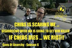 Chibs // Sons Of Anarchy // If Chibs Dies ... We Riot!!
