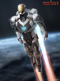Check out some concept art for Tony Stark's new armor in Iron Man 3 . There was a big leak of Iron Man 3 concept art la. Iron Man 3, Iron Man Suit, Iron Man Armor, Comic Book Characters, Marvel Characters, Comic Books Art, Comic Art, Marvel Comics, Marvel Heroes