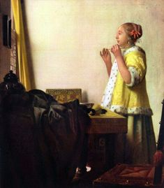 Johannes Vermeer - Young Woman with a Pearl Necklace
