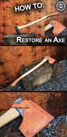 The steps to take an old rusty axe head, some rough sawn ash, scrap teak, and veg tan leather and turn it into a beautiful tool that will last a lifetime!