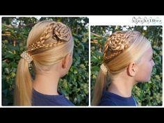 Braided side ornament ponytail combo - Gevlochten ornament met paardenstaart - YouTube