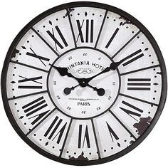 Bring a touch of vintage style to your living room or foyer with this charming wall clock, showcasing a Roman numeral dial and vintage-inspired finish. ...
