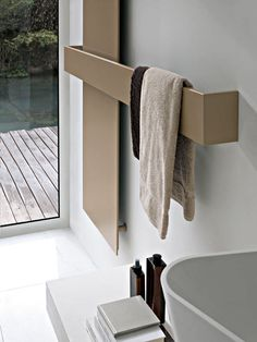 Electric towel radiator / water / combi / wall-mounted ELEMENTS: SQUARE by Ludovica & Roberto Palomba TUBES