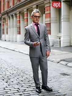 Pink And Grey Suit | My Dress Tip