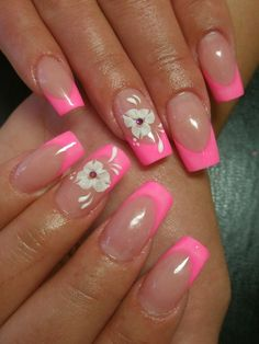 French Tip Nail Art Designs.........      Those nails tho! Love 'em they're too cute!