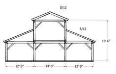 Monitor Style Barn Kit - Horse Barn Plans - Barn Building Kits - Timber Frame Plans