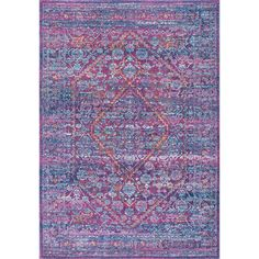 Just tell me I'm crazy and we'll move on... Or am I? nuLOOM Persian Mamluk Diamond Purple Rug (9' x 12')