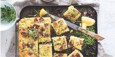 Clean zucchini slice