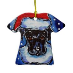 christmas black labrador retriever christmas ornament - Black Lab Christmas Ornament