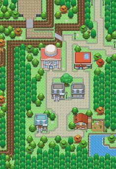Pokemon Rpg, Pokemon Sprites, Pokemon Games, Game Level Design, Game Design, 2d Rpg, Pokemon Backgrounds, Cool Pixel Art, 2d Game Art