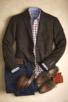 Casual outfit dressed up with the sport coat Men's fashion Mode Masculine, Mode Man, Herren Style, Herren Outfit, Sharp Dressed Man, Well Dressed Men Over 50, Gentleman Style, English Gentleman, True Gentleman