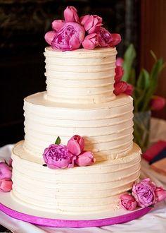Pink lemonade wedding cake topped with pink peonies and tulips Tulip Wedding, Wedding Flowers, Dream Wedding, Wedding Day, Wedding Stuff, Lemonade Wedding, Pink Lemonade, Wedding Cake Designs, Wedding Cakes