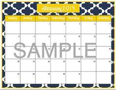 Fun 2013/ 2014 Calendar Printables via Etsy
