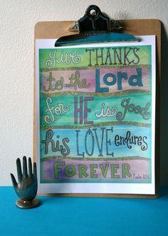 Love this girls whimsical scripture art!