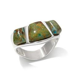 Jay King Boulder Turquoise Wavy Sterling Silver Ring