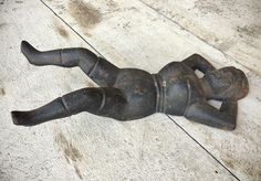 Antique Cast Iron Pin Up Girl Boot Jack Cast Iron Door Stop
