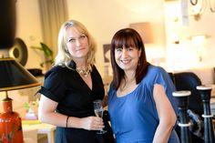 Showroom manager, Ana Meza with Sarah Carlson from Stephanie Odegard