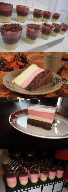 Receita de Brigadeiro Napolitano #brigadeiro #napolitano #receia #pilotandofogão Quick Recipes, Sweet Recipes, Cake Recipes, Dessert Recipes, Desserts, Vanilla Cake, Food Videos, Cheesecake, Easy Meals