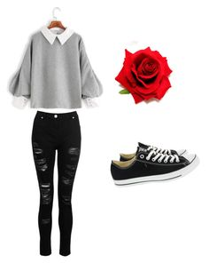 """Mila's casual wear"" by pantsulord on Polyvore featuring Dorothy Perkins and Converse"