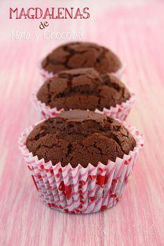 Tartas sin Gluten .....365 dias sin gluten: Magdalenas de Nata y Chocolate