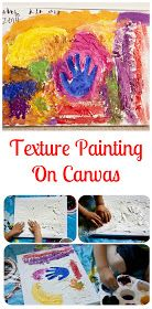 Texture painting on canvas    Preschool Classroom   Texture painting