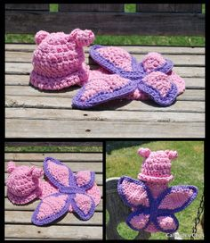 Crochet Pattern Butterfly  Cuddle Critter Cape by calleighsclips, $5.95