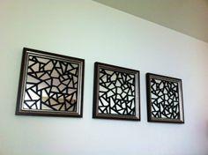 "Overlay Danika 19"" squares framed"