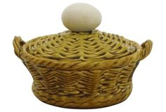 Majolica Egg Basket