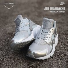 Nike Air Huarache 'Metallic Silver'
