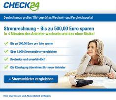 CHECK24-Partnerprogramm - Geld verdienen als Affiliate mit kostenlosen Stromvergleichen von CHECK24