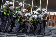 Credit: Victor Moriyama/Reuters Sao Paulo, Brazil: Police clash with demonstrators during a protest as the country celebrates Independence Day