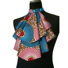 African Women Acccessories False Collar Dashiki Bowknot Detachable - All About Latest African Fashion Dresses, African Print Dresses, African Print Fashion, African Dress, Ankara Fashion, Africa Fashion, African Prints, African Attire, African Wear