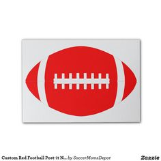 #Red #Football #Post-it #Notes #Stationary