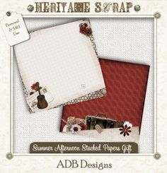 Free Summer Afternoon Stacked Paper Gift