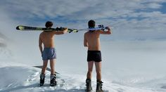 Ski fahren im Sommer