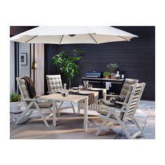 ÄPPLARÖ Tisch+4 Hochlehner/außen - weiß - IKEA