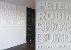 Govett-Brewster Art Gallery, 'Peter Robinson: Snow Ball Blind Time' exhibition foyer signage - Kalee Jackson