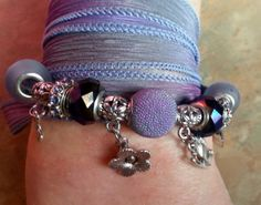 Lovely Silk Wrap Bracelet Luscious Lavender by WolfMountainJewelry, $25.00