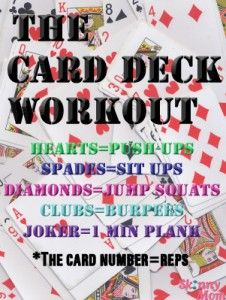 The Card Deck Workout   Skinny   Skinny Mom   How to get skinny fast   Get Skinny   Skinny tips by modern fit and Skinny moms
