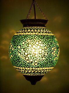 Tropical Mosaic Lantern