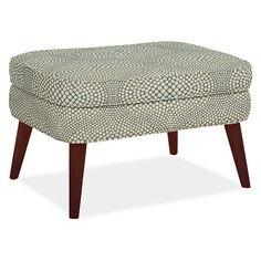 Quinn Chair & Ottoman   Chairs, Ottomans and Slate