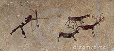 Prehistoric hunter - cave painting reproduction by Roxana González, via Dreamstime