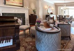 Gillian Gillies Interiors Inc. - Toronto - Canada - Interiors - Living Room - Essence Furniture - Harper - Refined Luxury