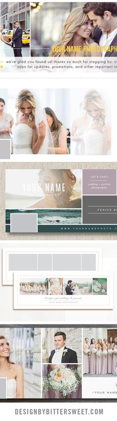Facebook timeline templates for wedding photography. Start your new year with a Facebook makeover.
