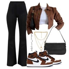 Baddie Outfits Casual, Cute Swag Outfits, Cute Comfy Outfits, Stylish Outfits, Teen Fashion Outfits, Retro Outfits, Boujee Outfits, Polyvore Outfits, Teenager Outfits