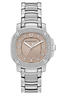 Burberry The Britain Diamond Bezel Bracelet Watch, 34mm available at #Nordstrom